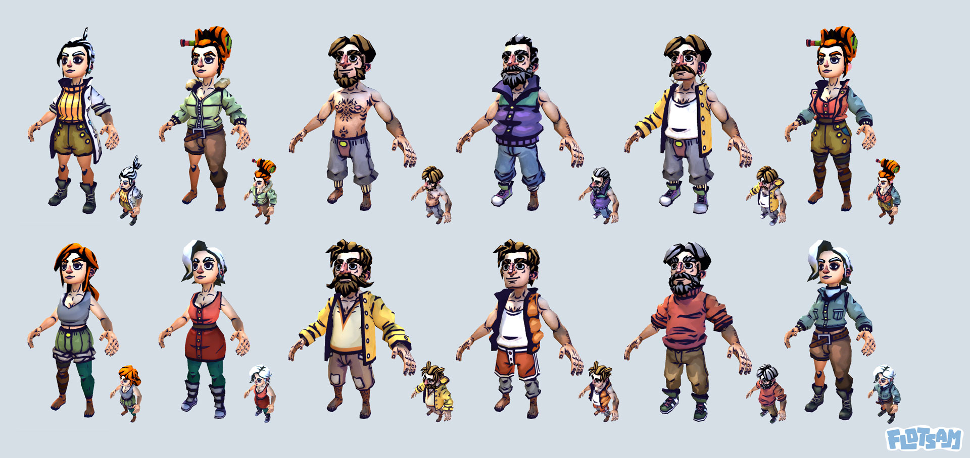 Flotsam - 3D Characters