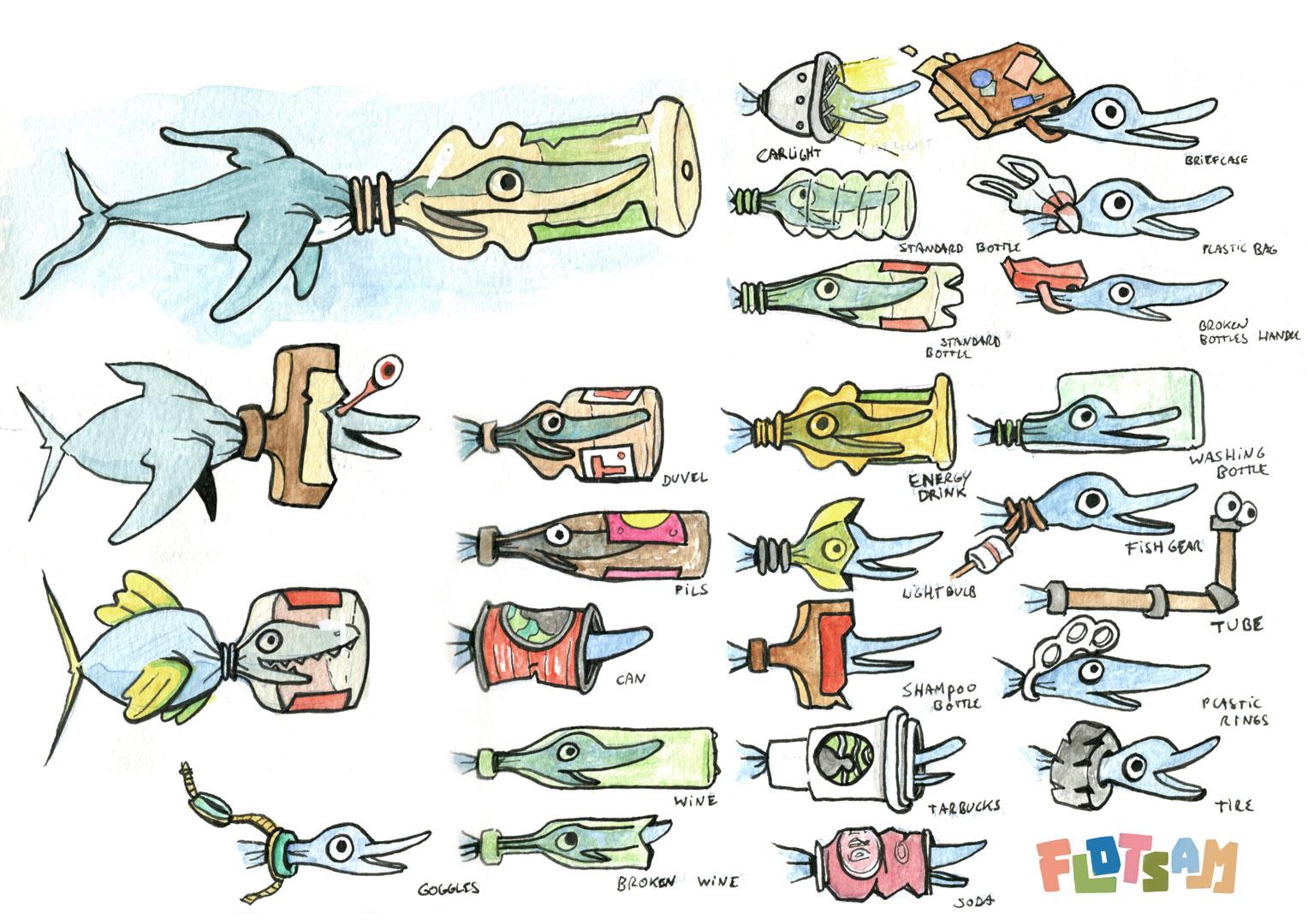 Flotsam game friendly fish concept 2