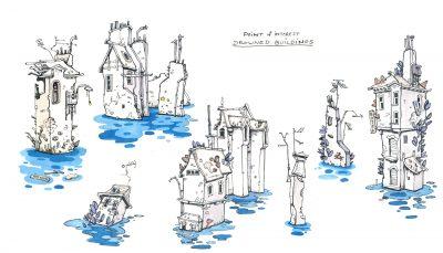 Flotsam Game Flooded World Concept 01