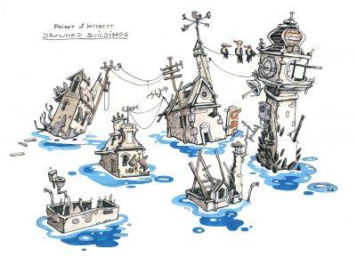 Flotsam Game Flooded World Concept 02